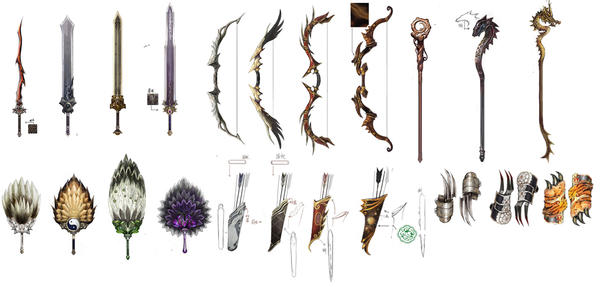 Ornate Weapons by Concept-Art-House