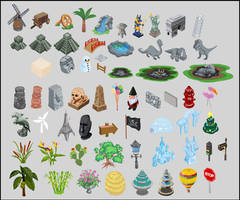 Happy Island Vector Asset Assortment by Concept-Art-House