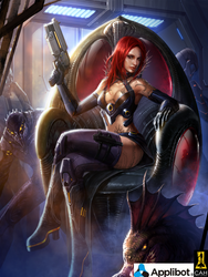 Redhead Gun Girl by Concept-Art-House