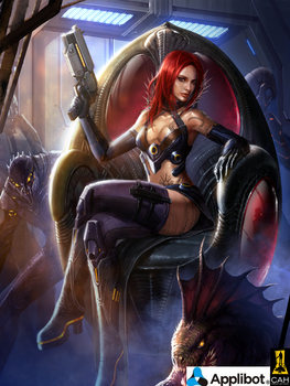 Redhead Gun Girl