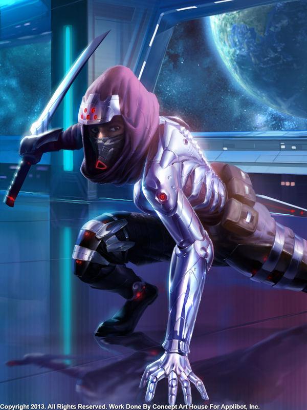 Cyborg Ninja Ready to Strike by Concept-Art-House on ...
