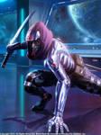 Cyborg Ninja Ready to Strike