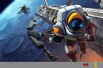 Astronaut Nautilus Splash Art