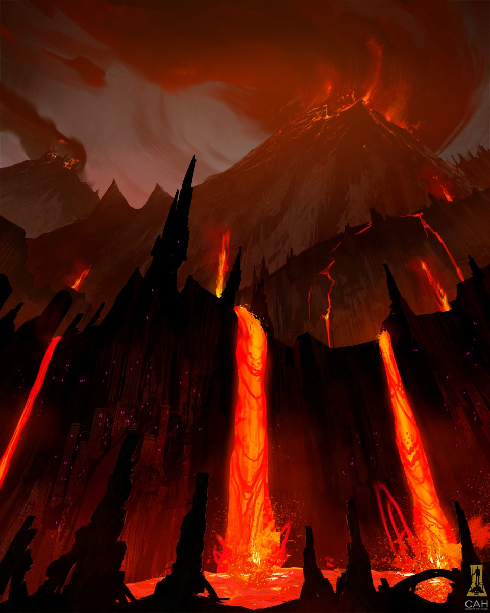 Volcano By Concept Art House On Deviantart