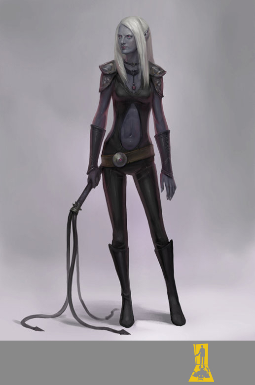 Night Elf with a Whip by Concept-Art-House