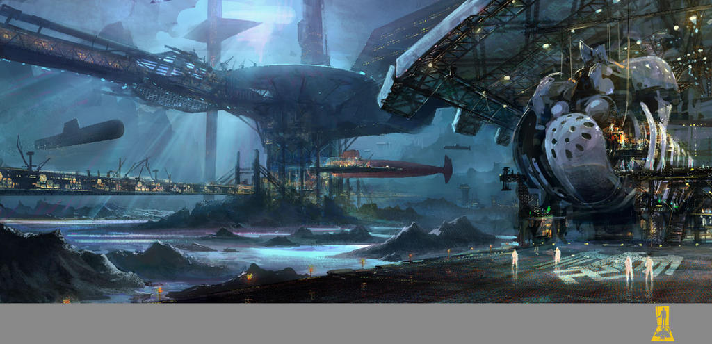 Underwater Submarine Station By Concept Art House ...