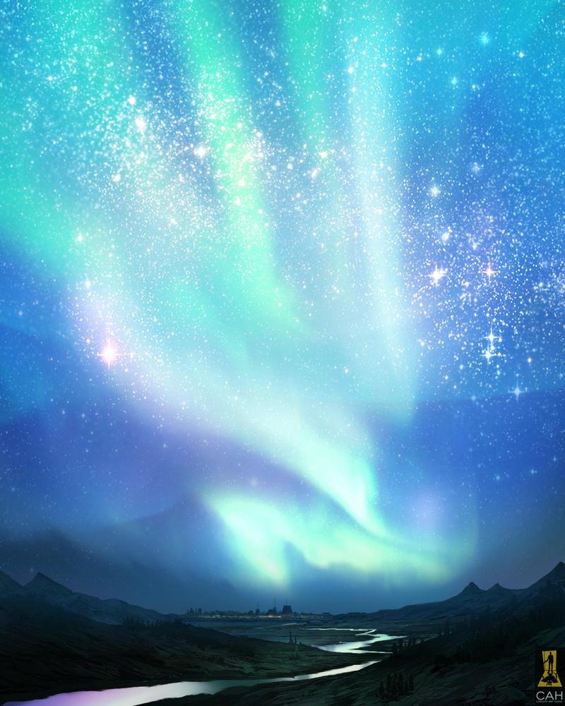 aurora borealisconcept-art-house on deviantart