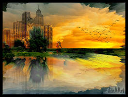 ROMANTIC  ON A SUNSET by IME54-ART
