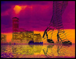 WALKING ON THE SKYLINE. by IME54-ART