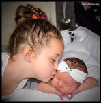 KISS FOR HER BABY SISTER