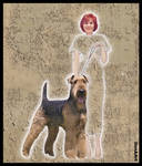 MY SECOND DOG WAS AN AIRDALE TERRIER by IME54-ART