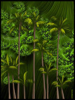 FRACTAL PALM TREES by IME54-ART