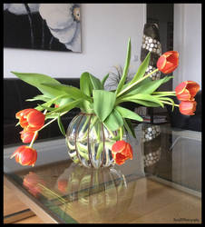 DECORATIVE TULIPS ON MY TABLE ! by IME54-ART