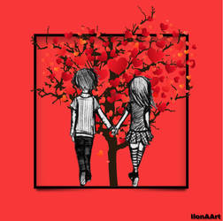 THE LOVE TREE by IME54-ART