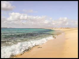 QUIET BEACHES ON CAPE VERDE ISLANDS ,SAL