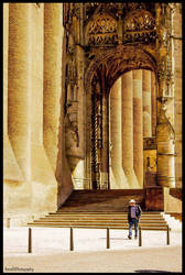 ALBI CATHEDRAL IN FRANCE ! ONE MAN ONLY . by IME54-ART