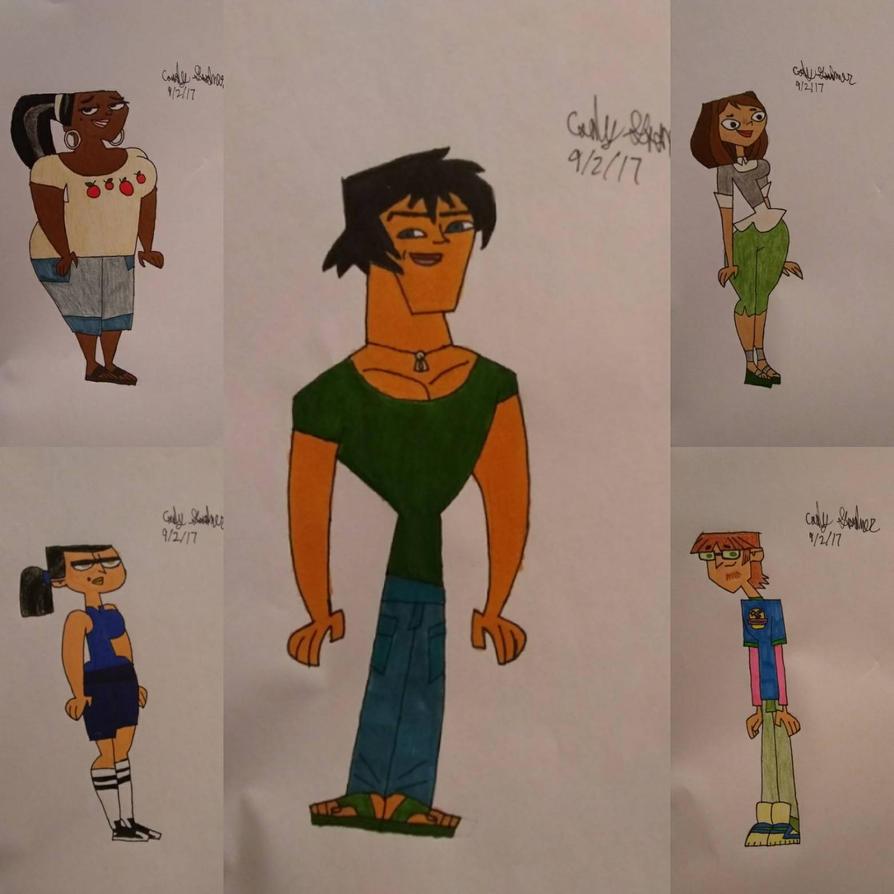 TDI Justin, Leshawna, Courtney, Eva And Harold By CGood123