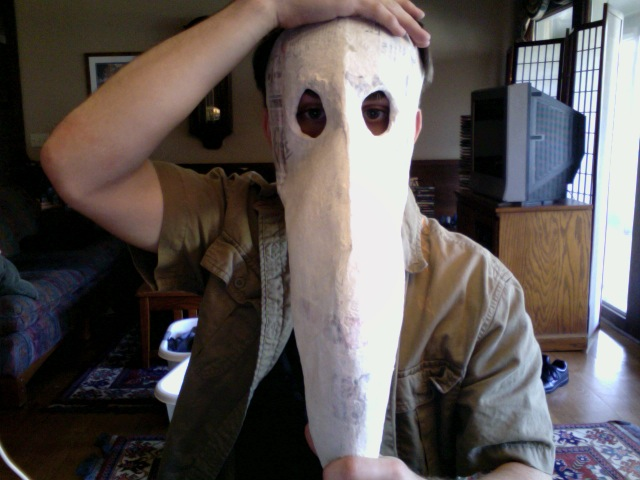Paper mache mask ii by jelly filled donuts on deviantart for Paper mache mash