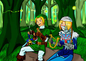 Sheik and Link by Razmere