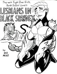 Inktober: Lesbians in Black Spandex