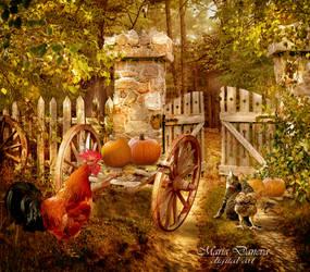 autumn in the village by anais-anais61