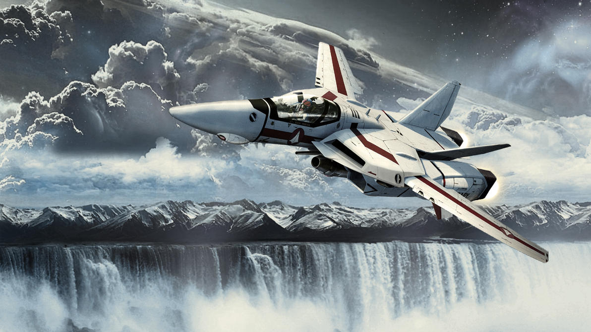 Ws galaxy waterfall mountains sky 1920x1080fix by theinvid - Robotech 1080p ...