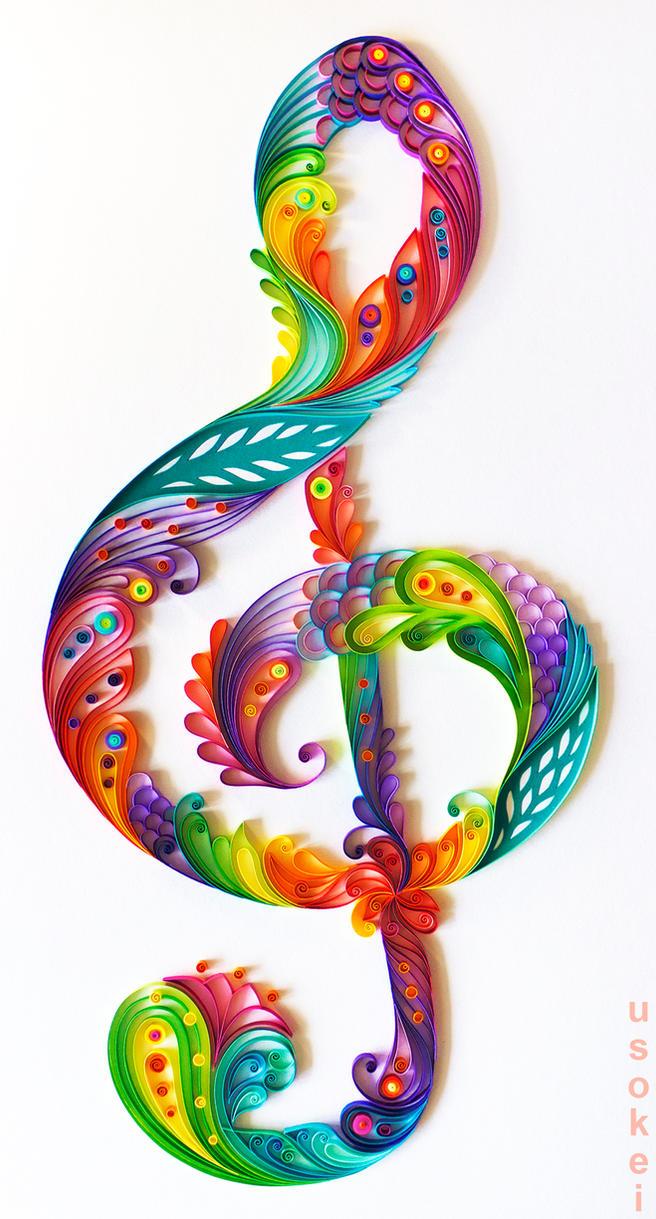 treble clef by usokei
