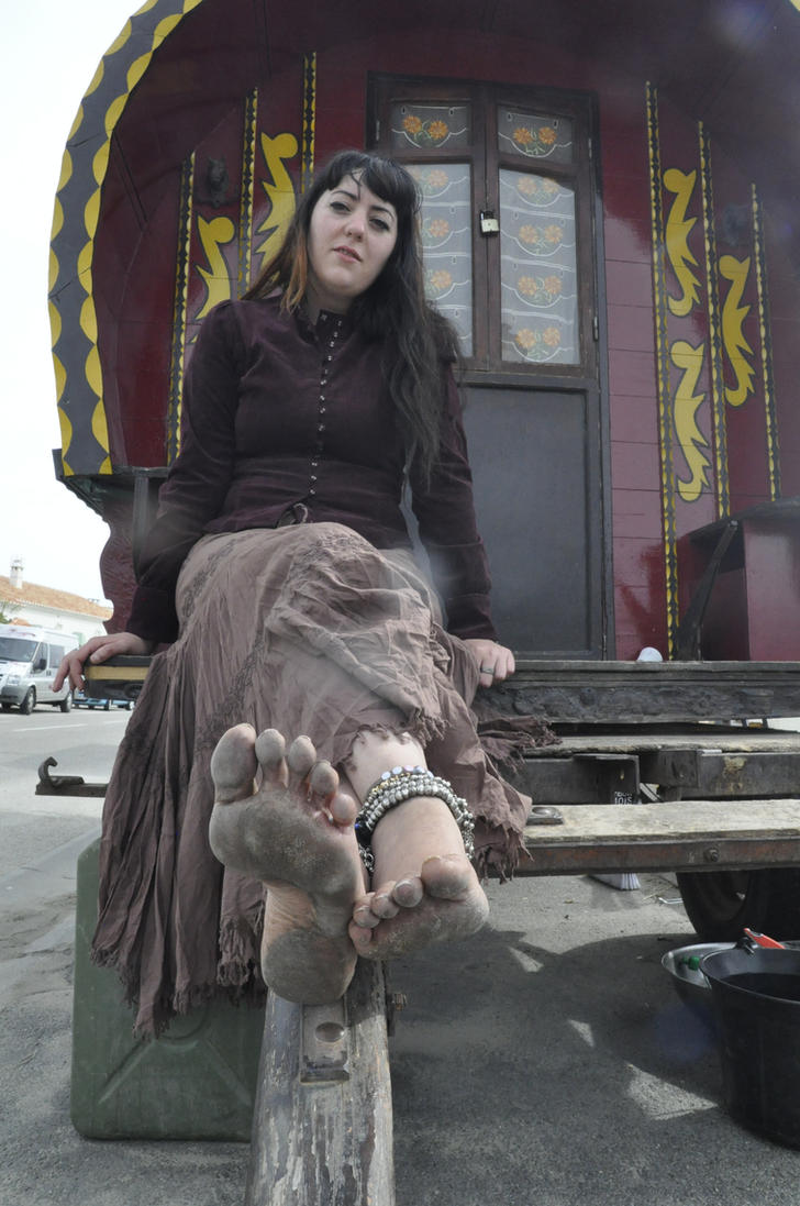 Gypsy barefoot on caravan by GypsyBarefootCecilia