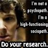 Sherlock-Sociopath by AlixroseW