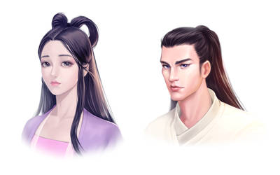 Asian style study by pretty-cool-huh