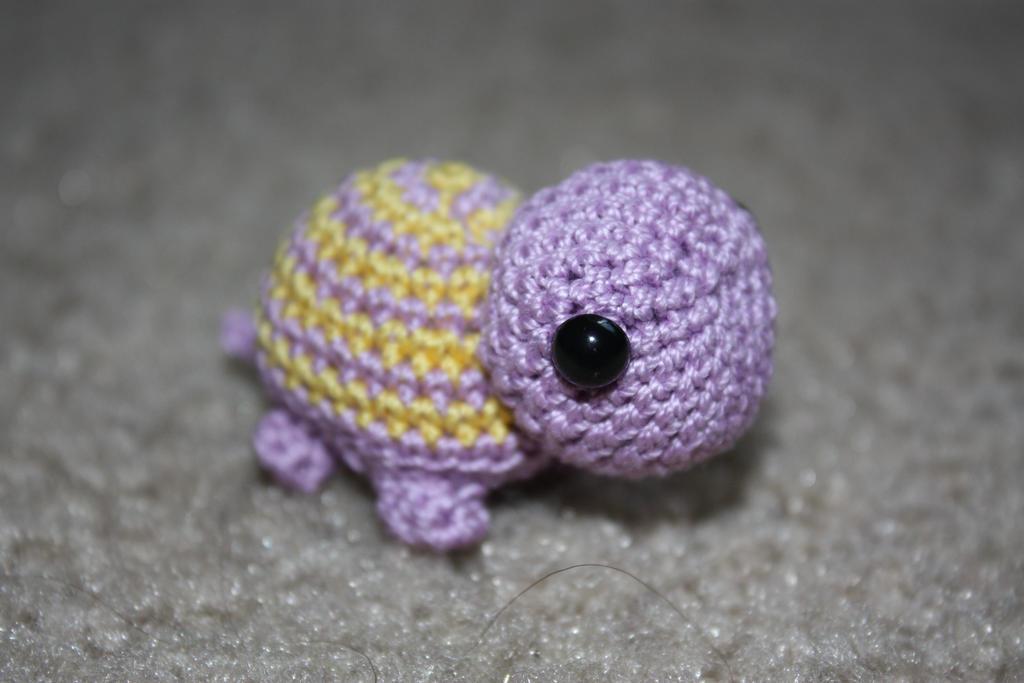 Mini Purple and Yellow Striped Turtle by yanagi-yami on DeviantArt