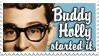 Buddy Holly Stamp by lalycorn