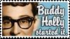 Buddy Holly Stamp by lalycorn