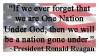 President Reagan Quote Stamp by danny-fan-101