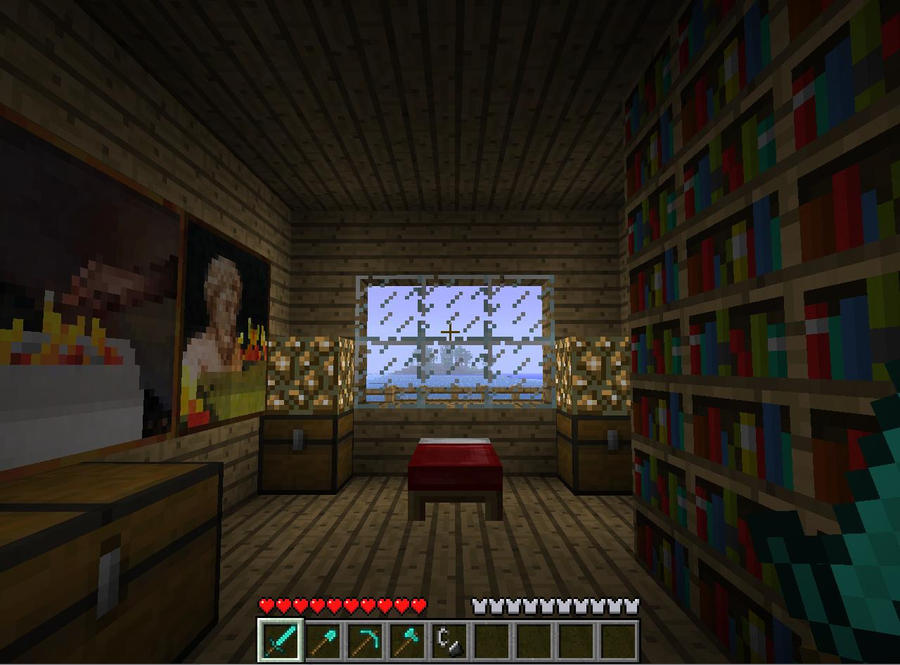 The Most Awesome Minecraft Bedroom Makeover One Wall Painted Brown ...
