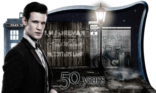 Doctor Who 50th anniversary signature by JaXParabellum