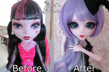 Before and After - 17 inch Draculaura by HavenRelis