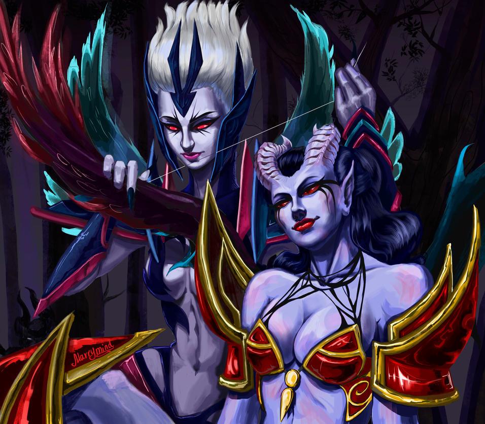 Vengeful Spirit / Queen of Pain by Marry-mind on DeviantArt  Vengeful