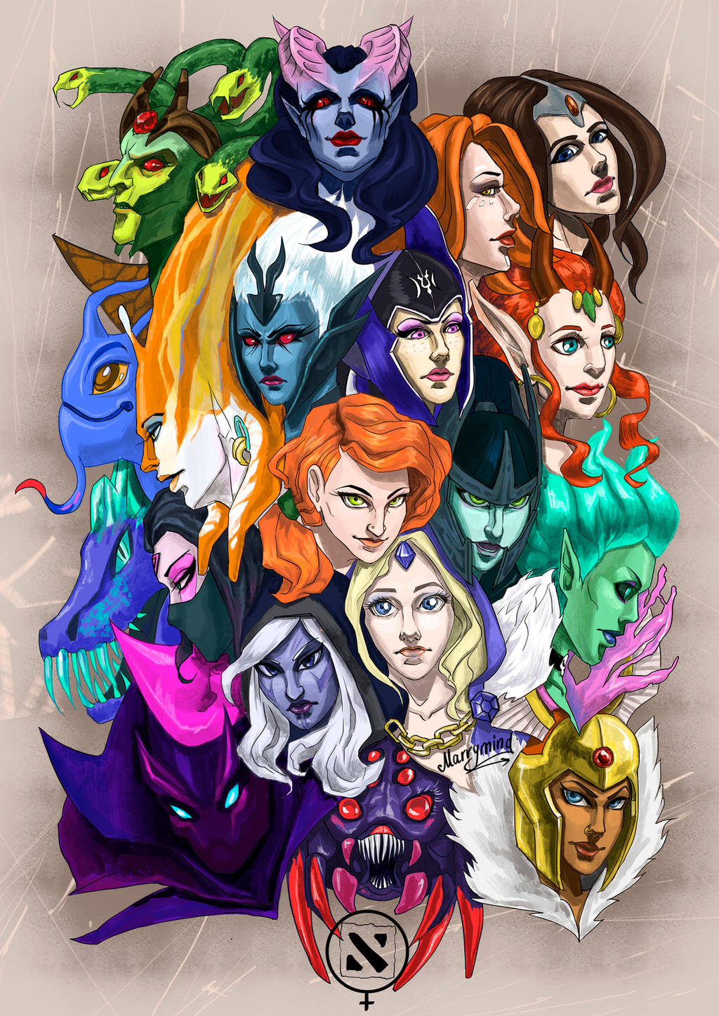 dota 2 female by marry mind on deviantart