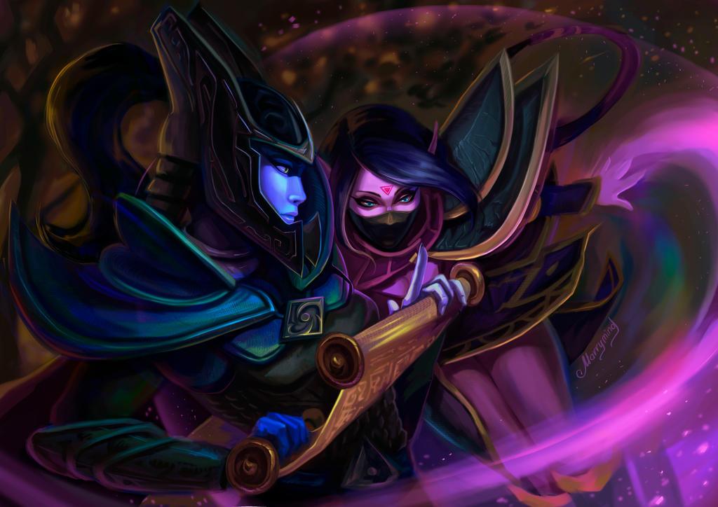 phantom assassin and templar assassin by marry mind on deviantart