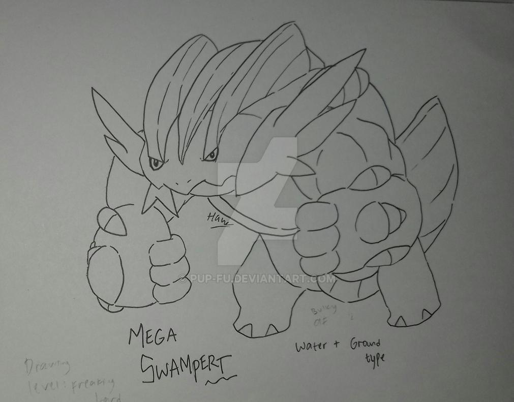 Mega Swampert by pup-fu