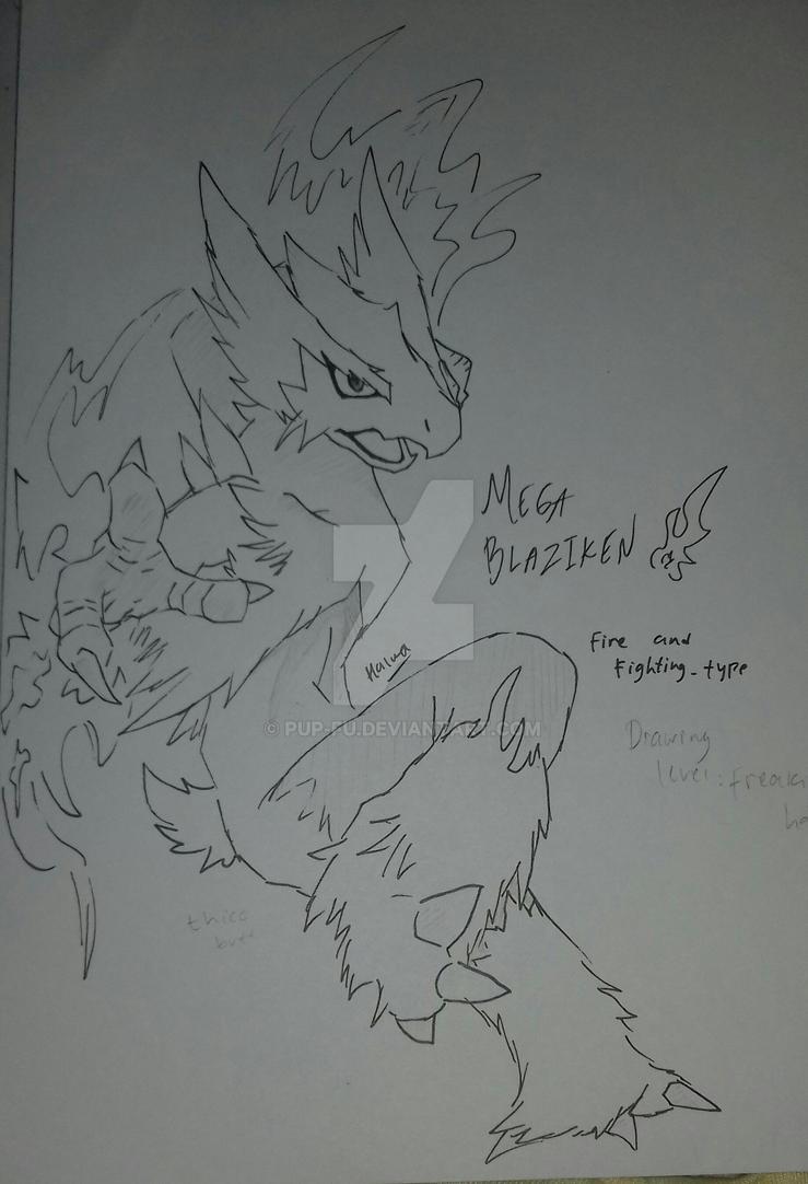 Mega Blaziken by pup-fu