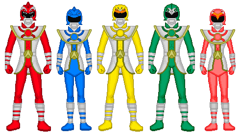 Power Rangers Aquatic (Original By MCsaurus) by Megaluizer