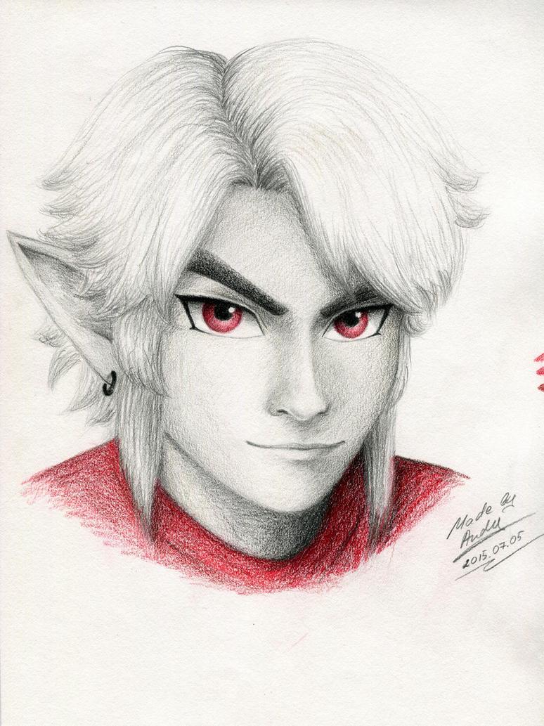 Dark Link portrait by RealTRgamer