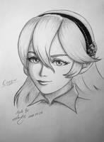 Female Corrin sketch - Fire Emblem by RealTRgamer