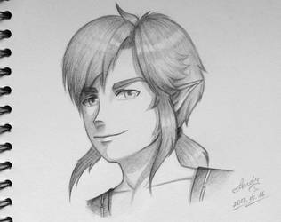 Link sketch - Breath of the Wild by RealTRgamer
