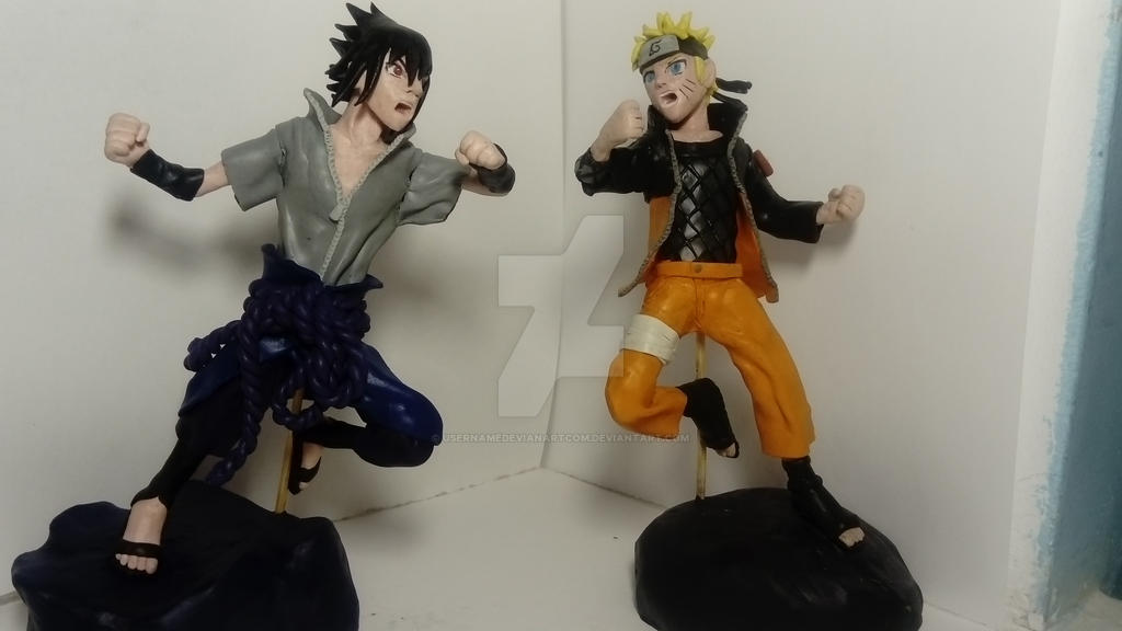 Naruto and Sasuke by usernamedevianartcom