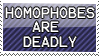 Homophobia is Deadly Stamp by vdaymassacre
