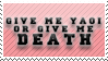 Death or Yaoi Stamp by vdaymassacre