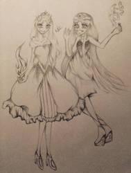 Rose and Lis by Kagaka